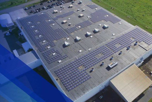 EPDM roof with solar panels