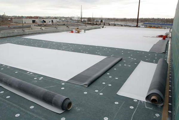 White EPDM Roof Installation
