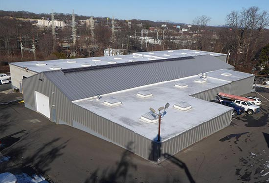 Outside view of Quality Roofing Services Warehouse