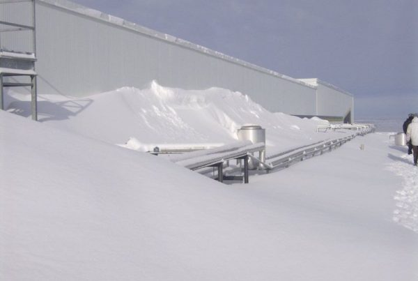 Winter Weather can damage Membrane Roofs.